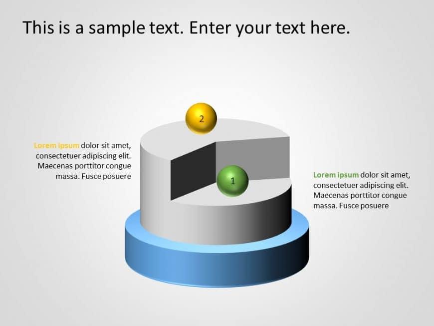 2 Steps 3D PowerPoint Template 1