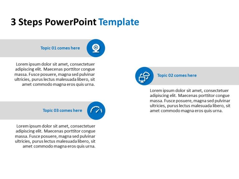 3 Steps PowerPoint Template