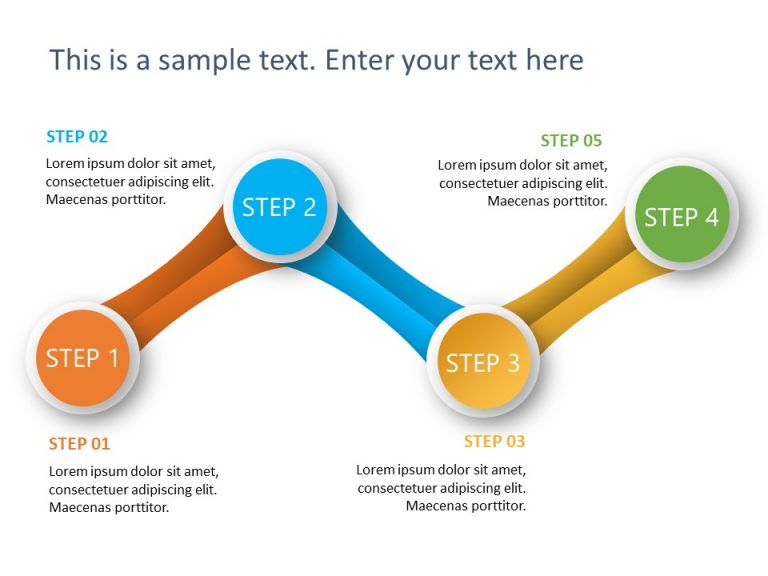 4 Steps PowerPoint Template