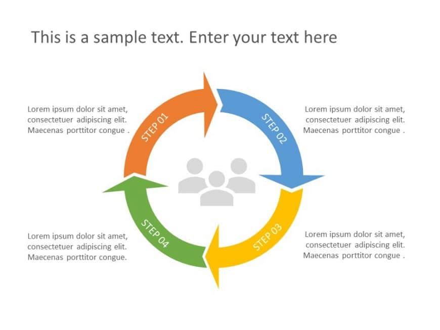 Free 4 Step Chevron PowerPoint Diagram
