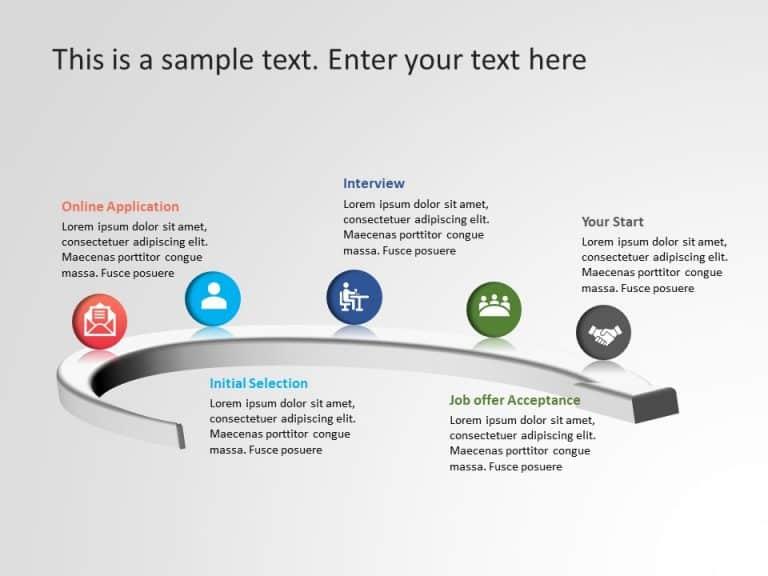 Recruitment Process PowerPoint Template 4