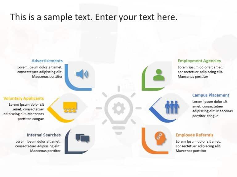 Recruitment Channels PowerPoint Template 1