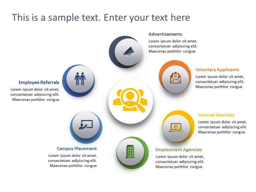 Recruitment Channels PowerPoint Template 2