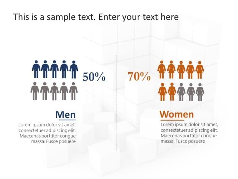Demographic Comparison PowerPoint Template