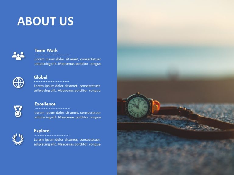 About Us PowerPoint Template 4