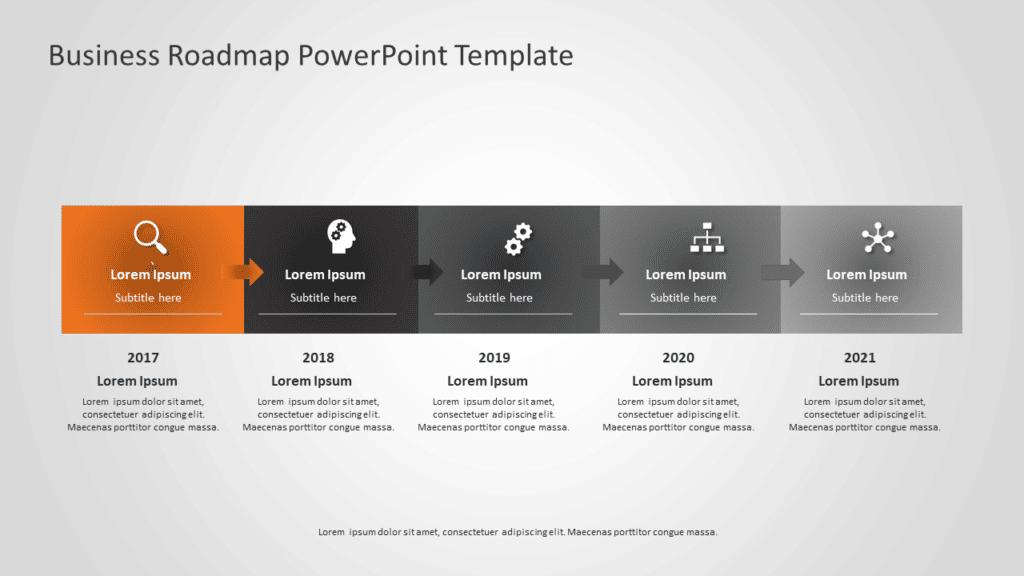 Business Roadmap PowerPoint Template