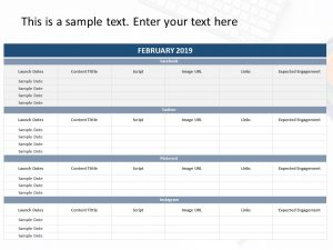 Social Media Planning PowerPoint Template