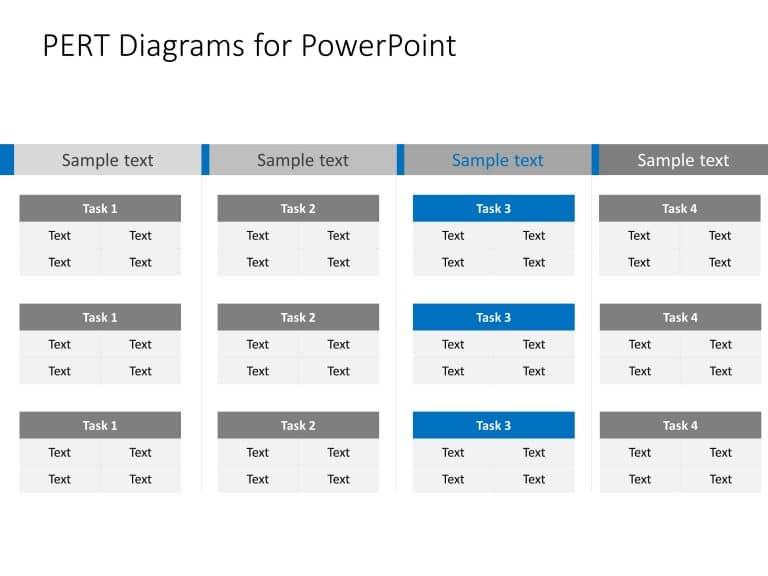 Pert Chart Powerpoint Template 4