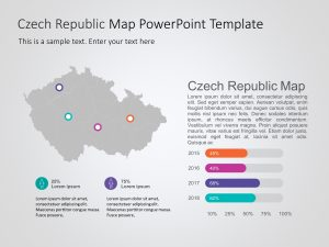 Czech Republic Map PowerPoint Template 2