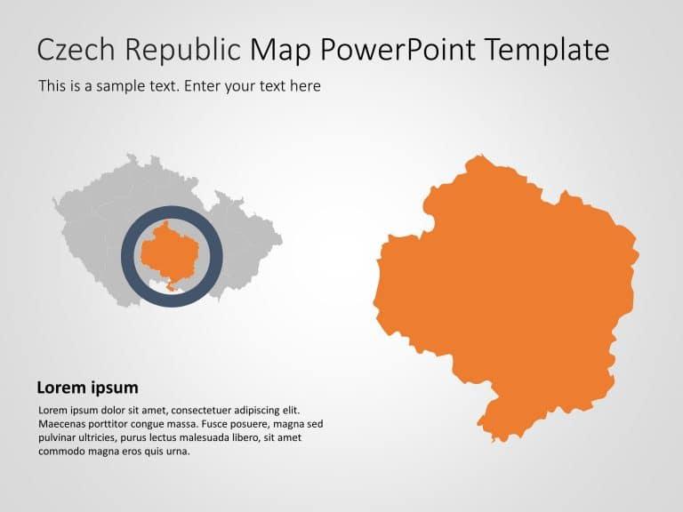 Czech Republic Map PowerPoint Template 5