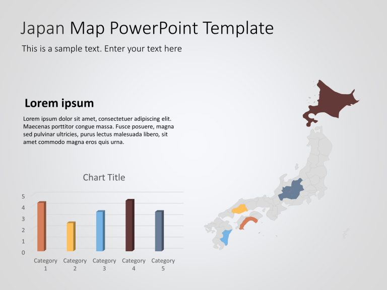 Japan Map PowerPoint Template 1