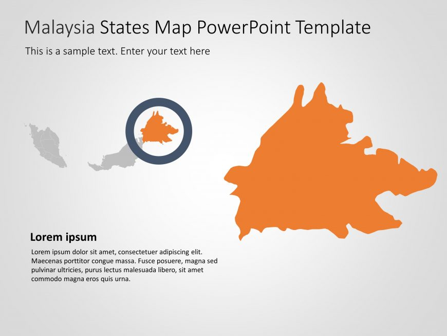 Malaysia Map PowerPoint Template 5