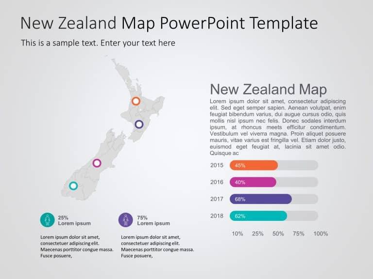 New Zealand Map PowerPoint Template 2
