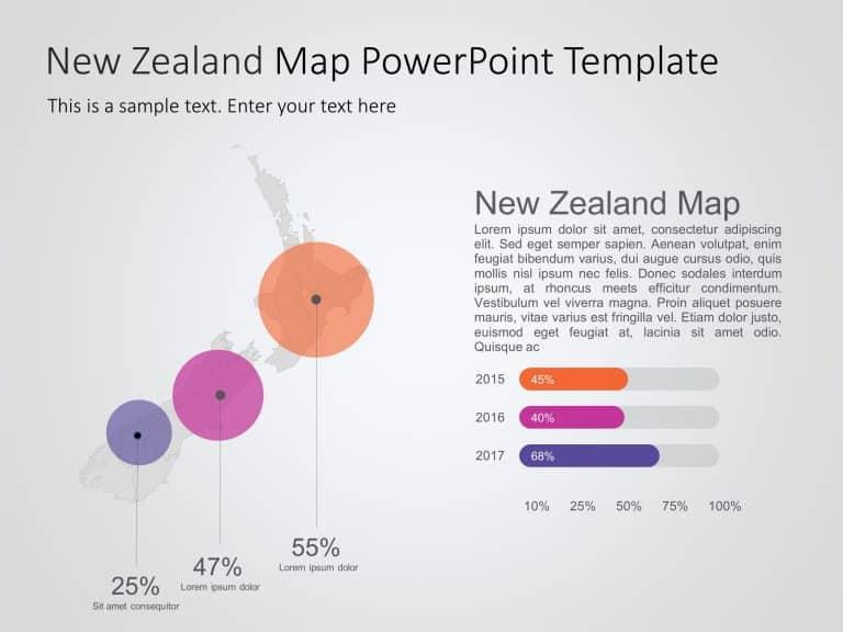 New Zealand Map PowerPoint Template 3