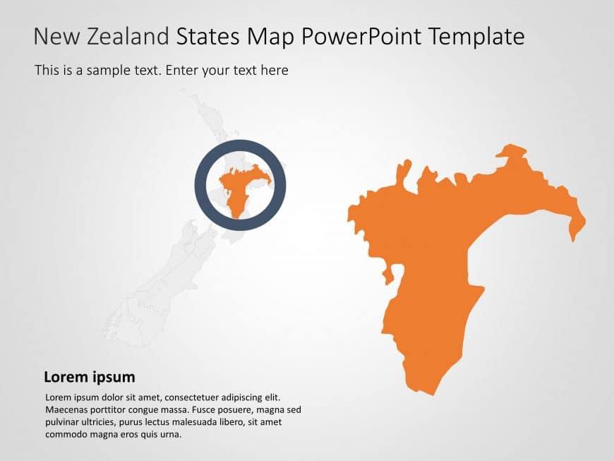 New Zealand Map PowerPoint Template 5