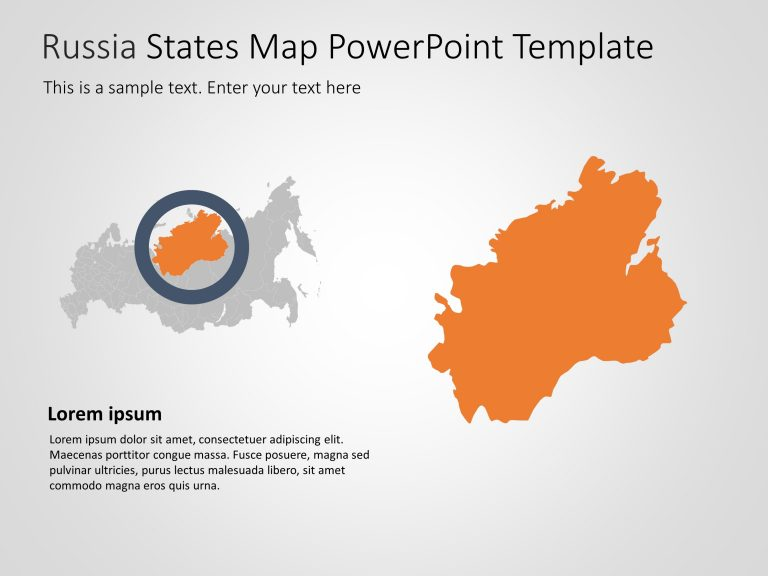 Russia Map PowerPoint Template 5
