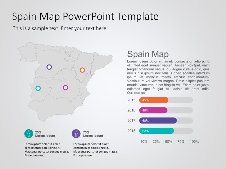 Spain Map PowerPoint Template 2