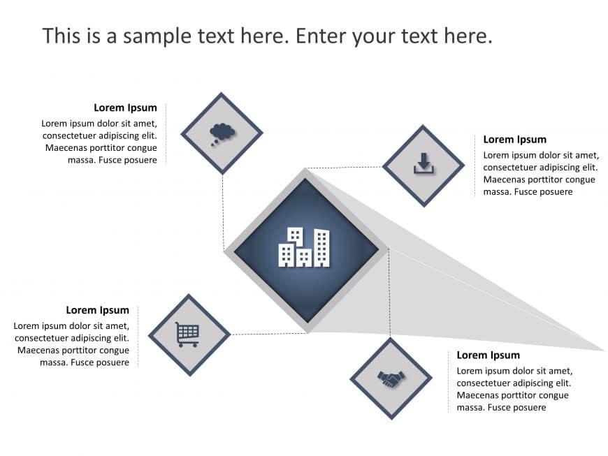 4 Steps Nodal PowerPoint Template 1