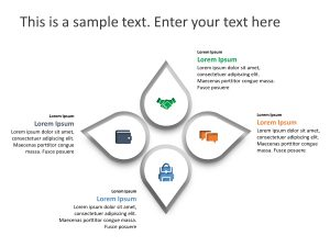 4 Steps Petal PowerPoint Template