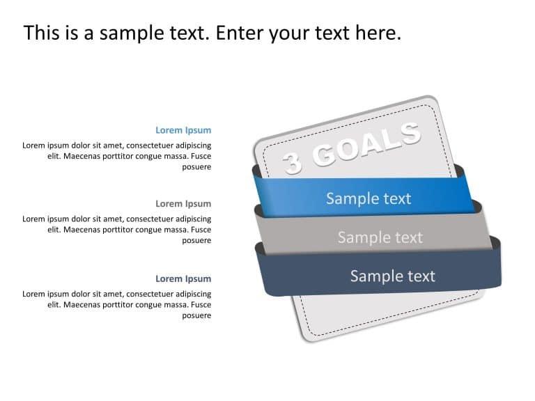 3 Steps Goals PowerPoint Template