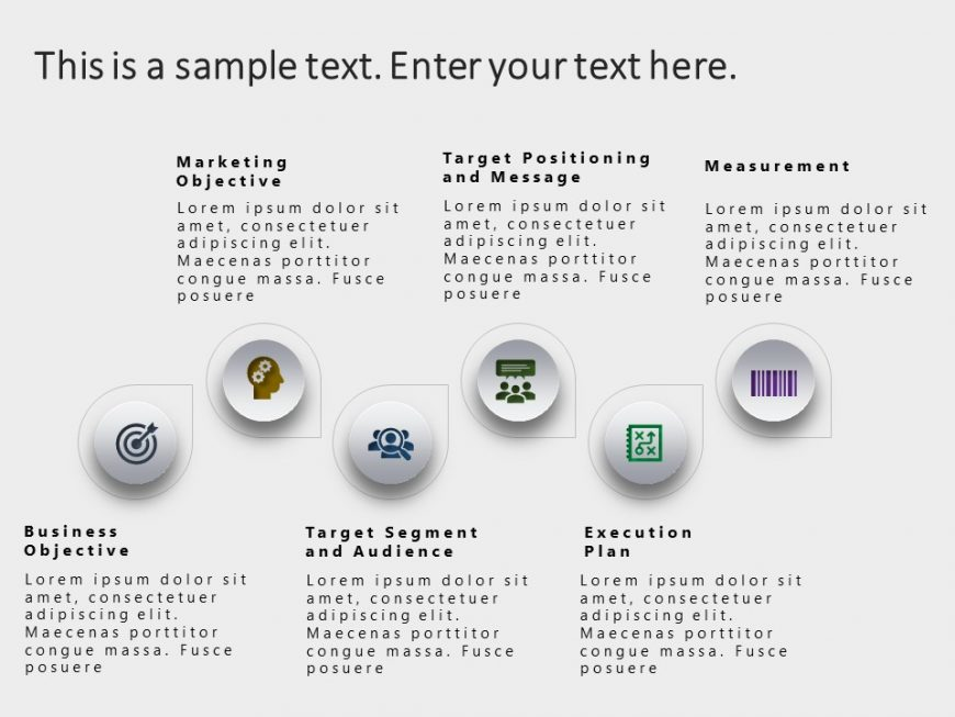 6 Steps Marketing Strategy PowerPoint Template