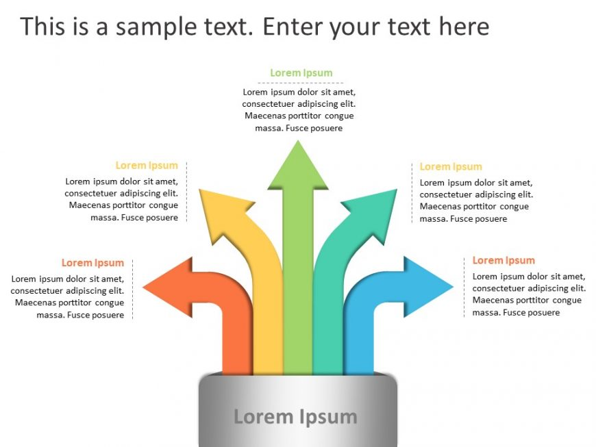 5 Arrows Growth Driver PowerPoint Template