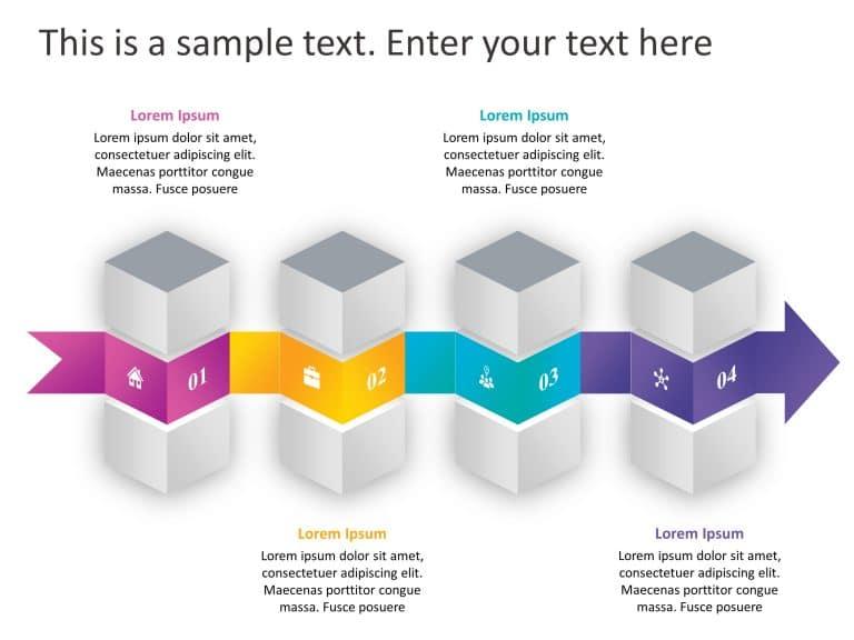 4 Steps Arrow Process PowerPoint Template