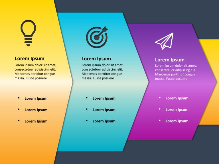 3 Steps Growth Drivers PowerPoint Template