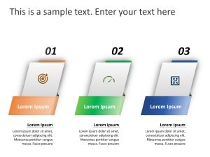 3 Steps Business Strategy PowerPoint Template 1