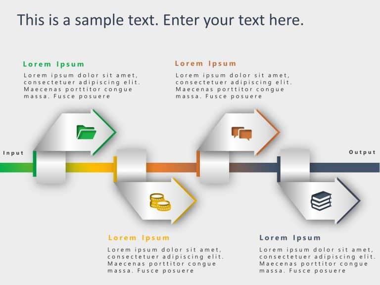 4 Steps Arrow Process PowerPoint Template 1