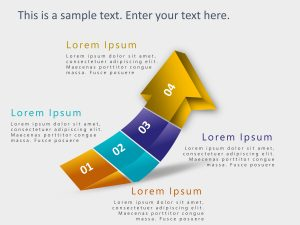 4 Steps Arrow Growth Drivers PowerPoint Template 1