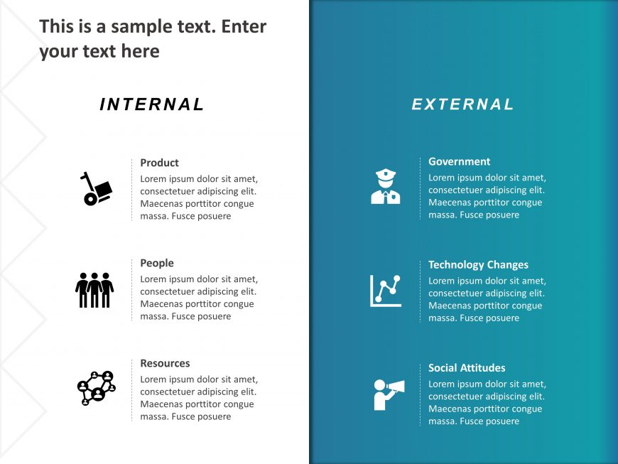 Internal External Factors PowerPoint Template 1