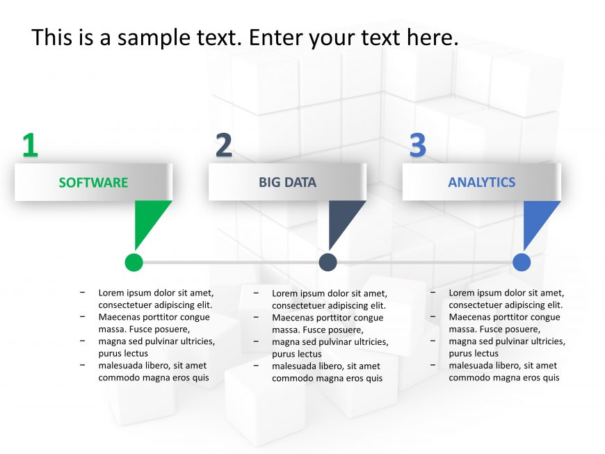 3 Steps Strategy PowerPoint Template