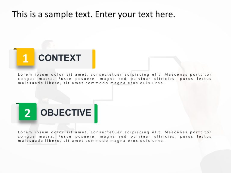 2 Steps Agenda PowerPoint Template 2
