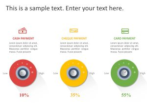 Dial Share Comparison PowerPoint Template