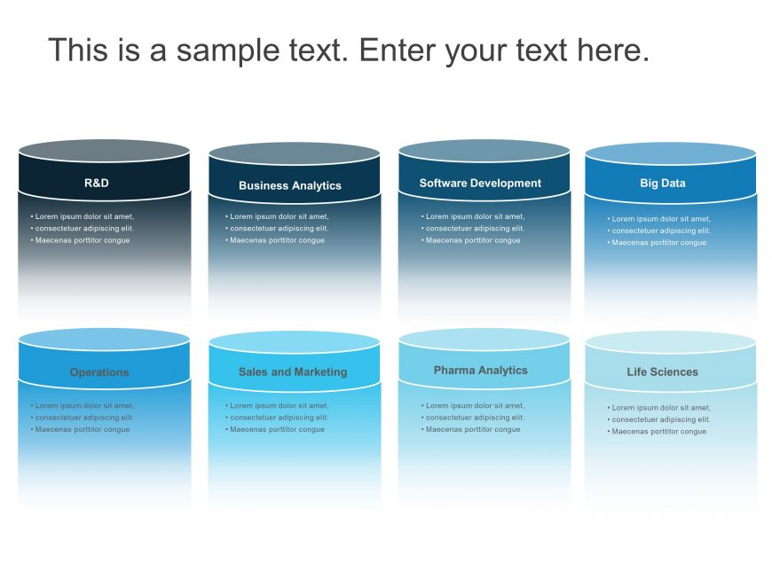 8 Steps Company Capabilities PowerPoint Template