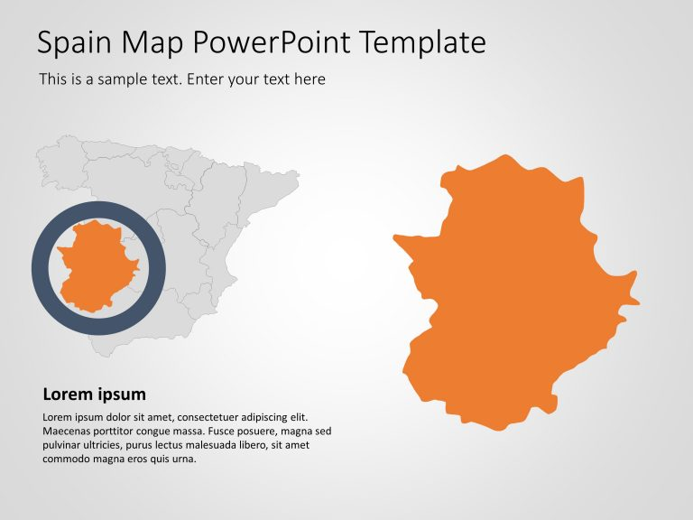 Spain Map PowerPoint Template 5