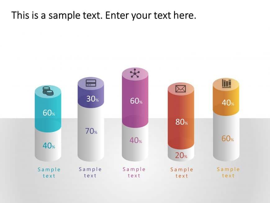 5 Steps Feature Comparison PowerPoint