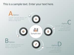 4 Steps Circular Strategic Initiatives PowerPoint