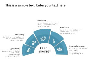 5 Steps Business Strategy PowerPoint