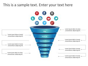 3D Funnel PowerPoint Template
