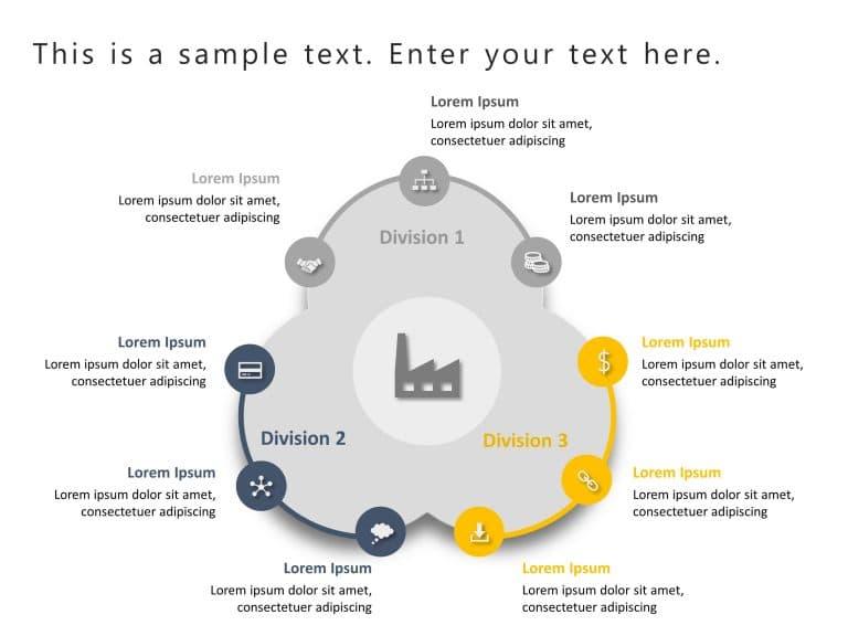 9 Steps Company Capabilties PowerPoint