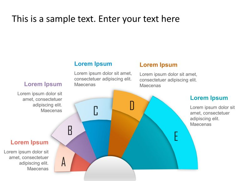 5 Steps Radial Strategy PowerPoint