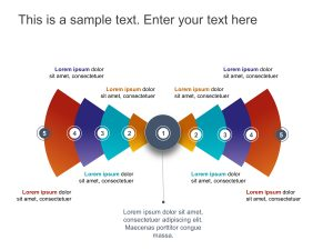 5 Steps Radial Strategy PowerPoint 1