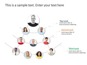 3 Level Org Chart PowerPoint