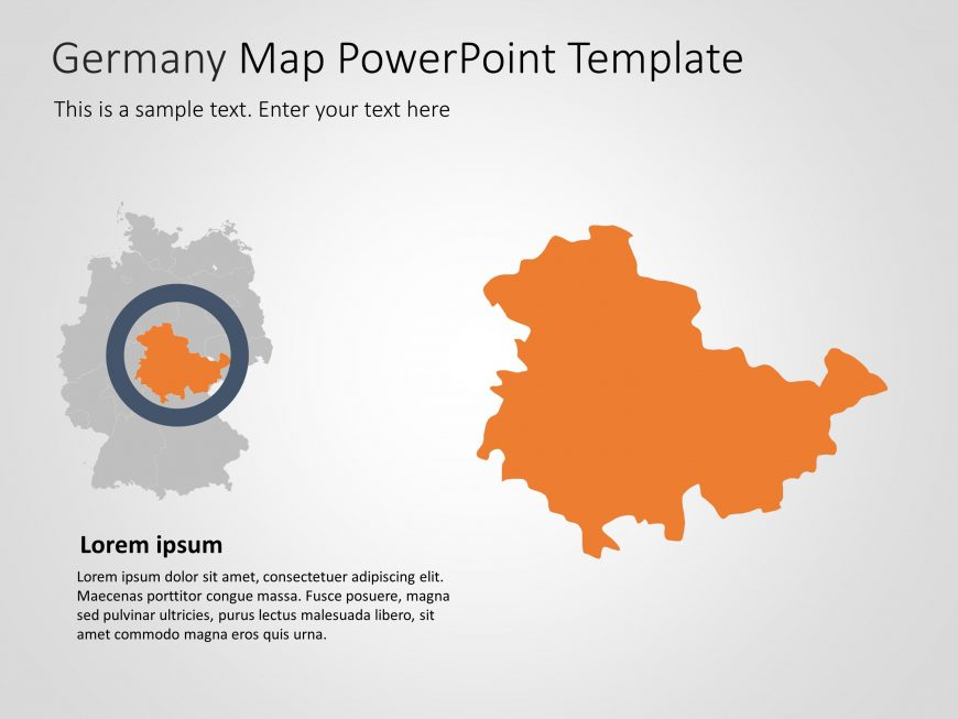 Germany Map PowerPoint Template 5