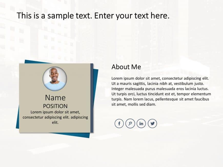 Employee Resume PowerPoint 5