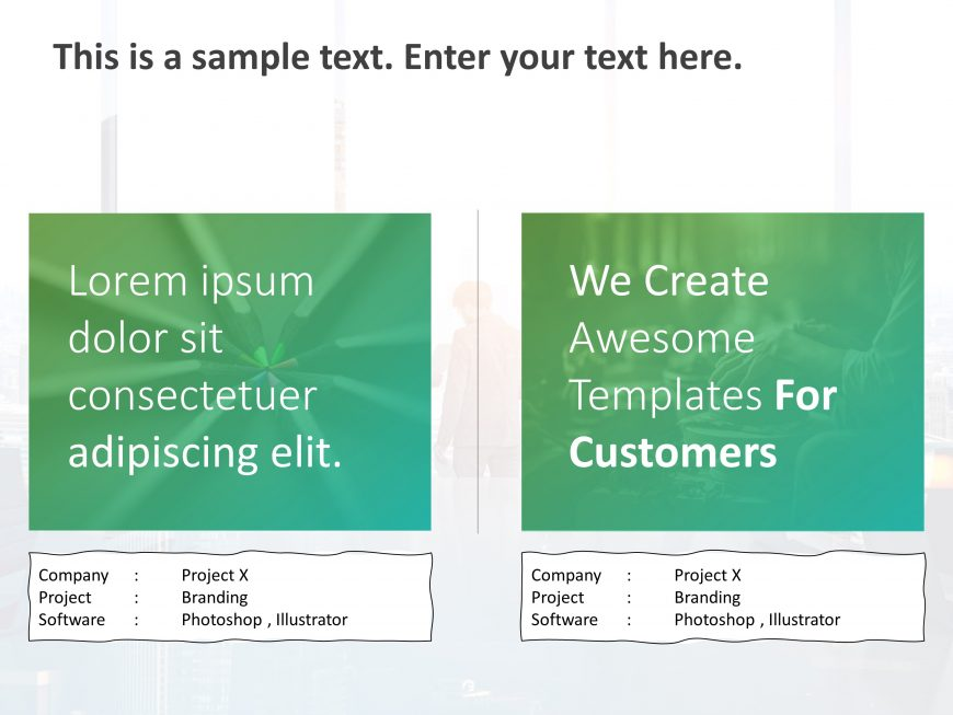 Projects Showcase PowerPoint