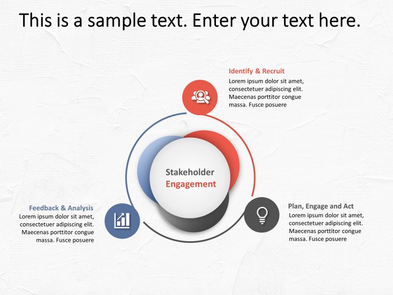3 Steps Stakeholder Management PowerPoint