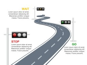 Traffic Light RoadMap PowerPoint